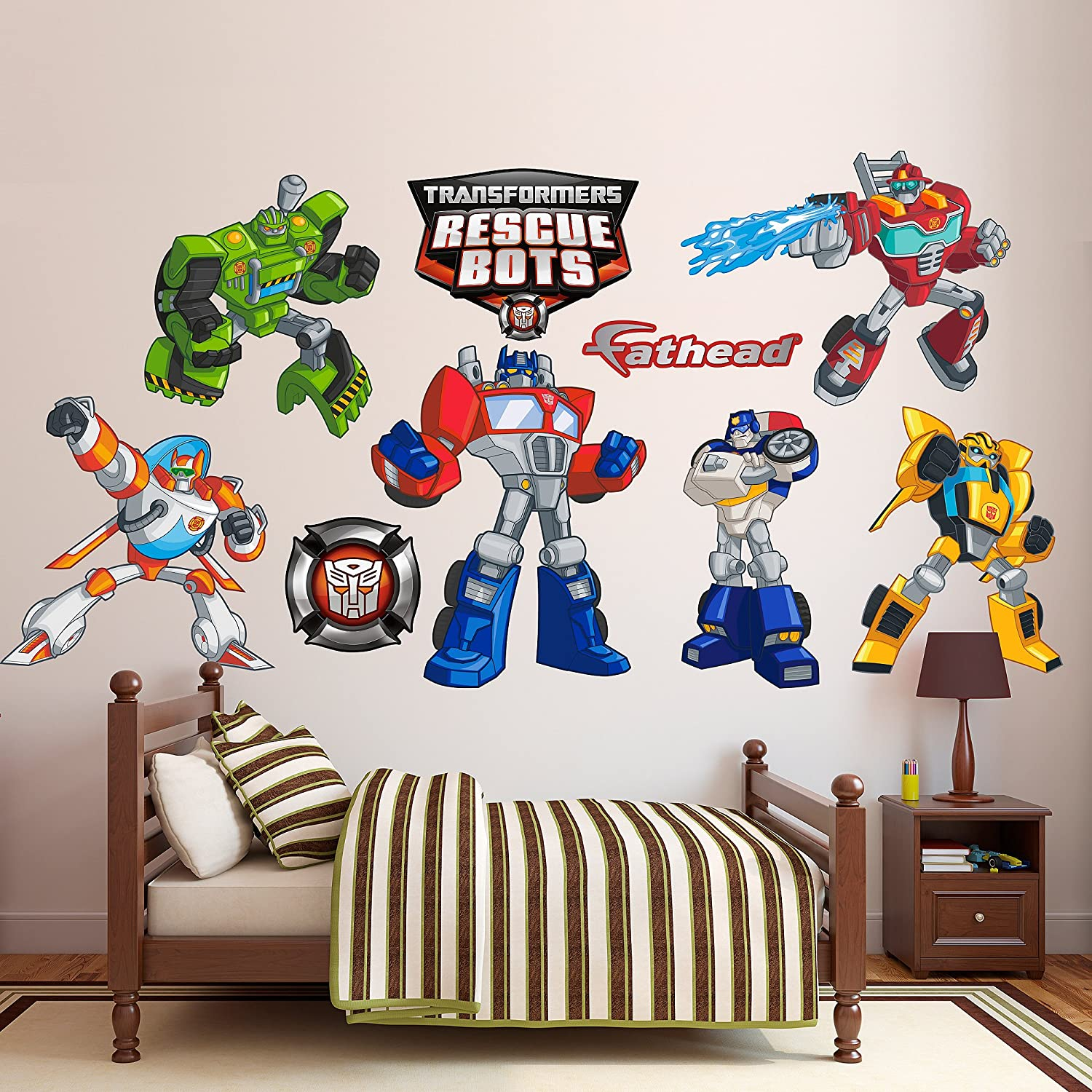 Amazon fathead transformers rescue bots collection vinyl amazon fathead transformers rescue bots collection vinyl decals home kitchen amipublicfo Images