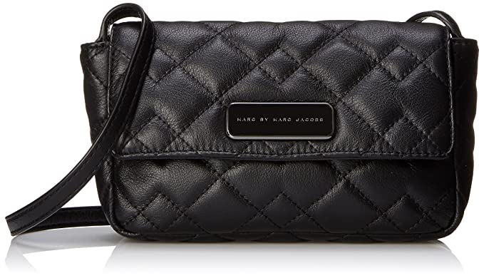 4ce4000819 Marc by Marc Jacobs Sophisticato Crosby Quilt Leather Julie Small Good Cross  Body, Black,