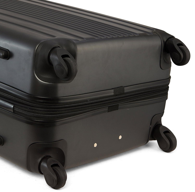 eba2d5508ba Amazon.com   TravelCross Milano Luggage Expandable Lightweight Spinner Set  - Black, 2 piece (20    28  )   Luggage Sets