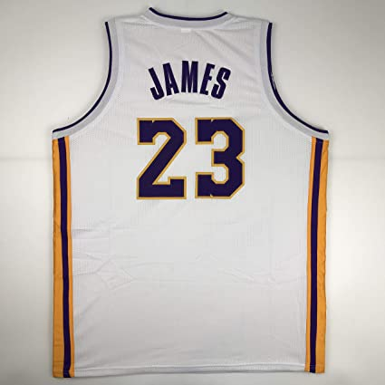 53efb4d8dbaf Unsigned LeBron James Los Angeles LA White Custom Stitched Basketball Jersey  Size Men s XL New No