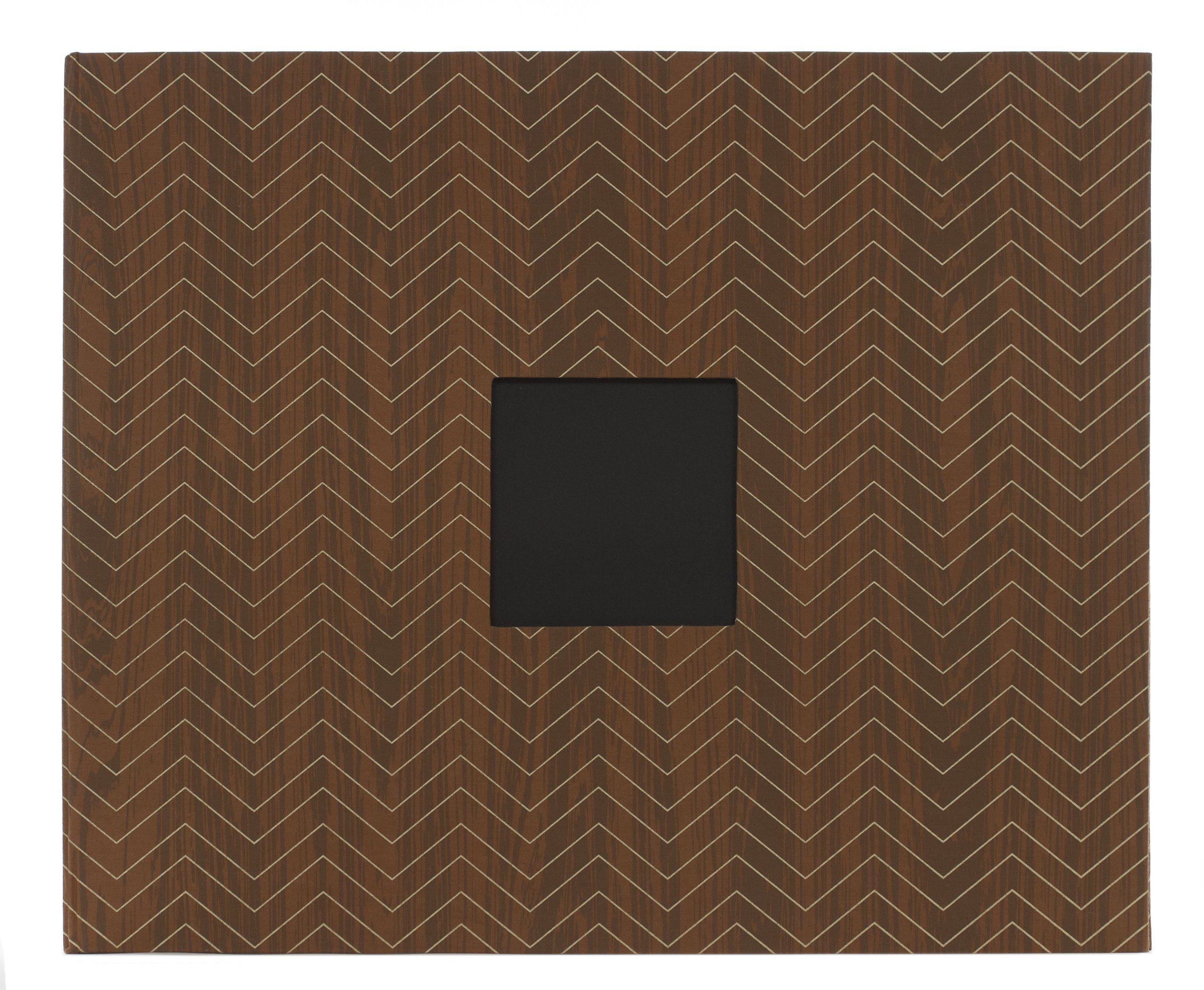 American Crafts Oilcloth D-Ring Scrapbooking Album, Woodgrain Chevron 2, 12 by 12-Inch by American Crafts