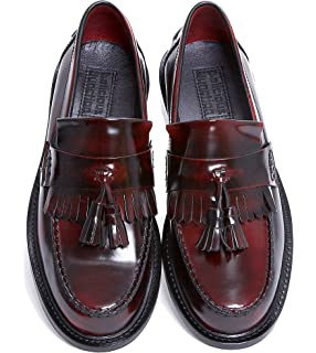 84e69aa3133 Blakeseys Scooter Mens Leather Tassel Loafers Oxblood  Amazon.co.uk ...