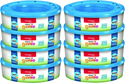 Pack Of 8 Playtex Diaper Genie Refill Gift Set  2160 Diapers Great For Baby
