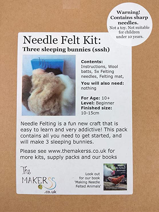 Perfect beginner/'s kit Needle Felting Kit Starter Box by The Makerss Birds