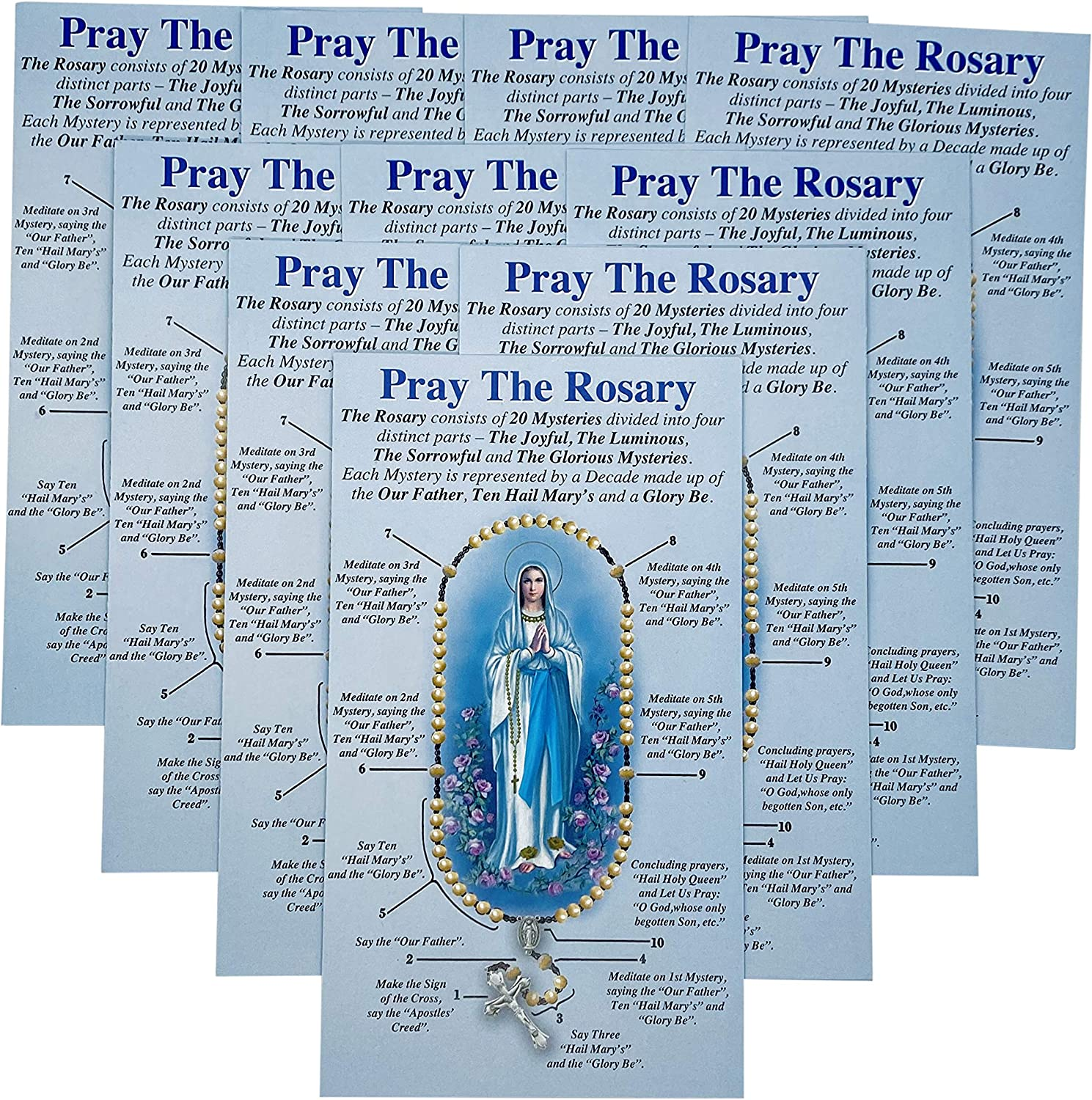 Amazing Saints How to Pray The Rosary Pamphlet Set of 10