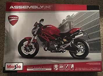 Maisto- Kit de Montaje del Modelo Ducati Monster 696 del año 2011, Escala 1:12 (39189)