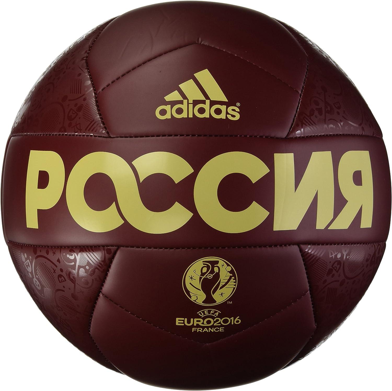 adidas Euro 16 Rusland Capitano Balón, Unisex, Rojo/Gris, 5 ...