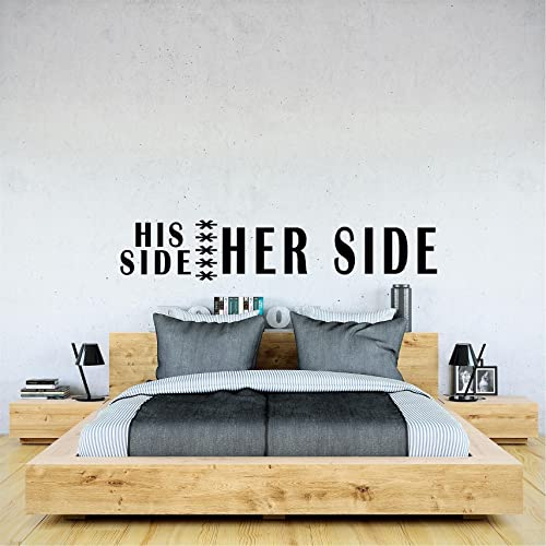 His Side Her Side Wall Decal Custom Funny Sayings Wall Art Cute Bedroom  Decals. Amazon com  His Side Her Side Wall Decal Custom Funny Sayings Wall