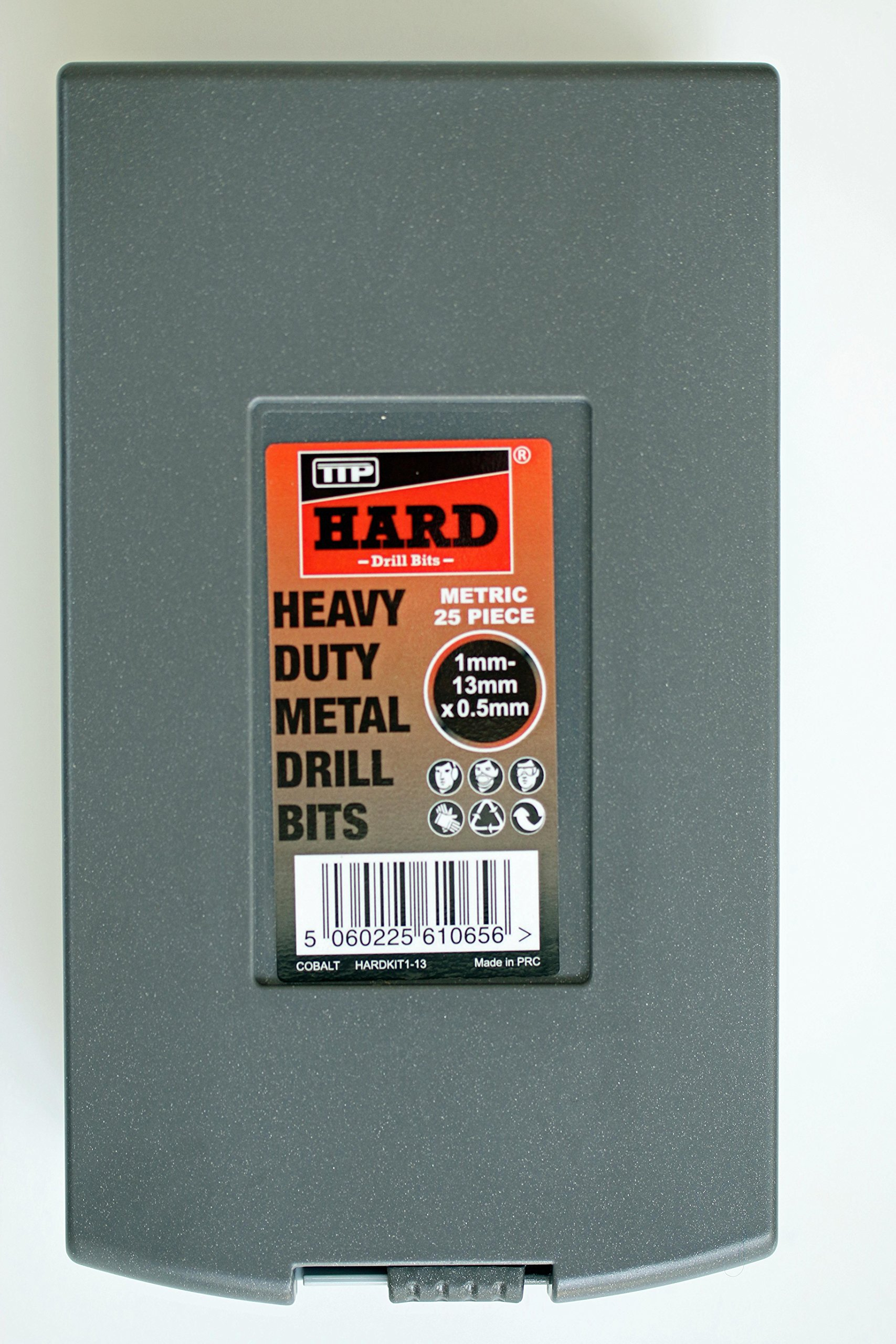 TTP HARD drills Set 1Mm To 13Mm X 0.5Mm (25 Drill Bits), Metric Cobalt Drill Set For Drilling Harder Metals Stainless Chrome Aluminum Cast Iron