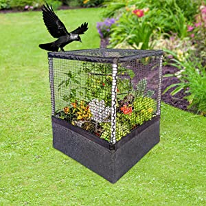 Gardeners Advantage Raised Garden Bed - Fully Enclosed Garden Bed with Protective Net Cover - ECO Friendly Planter Box for Vegetables, Fruits or Herbs - Breathable Fabric - Storage Bag Included