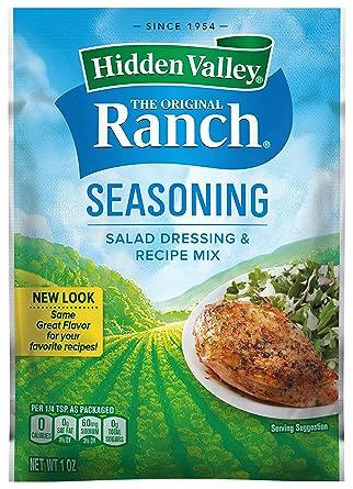 Amazon Com Hidden Valley Original Ranch Salad Dressing Seasoning Mix Gluten Free 1 Packet Package May Vary Grocery Gourmet Food