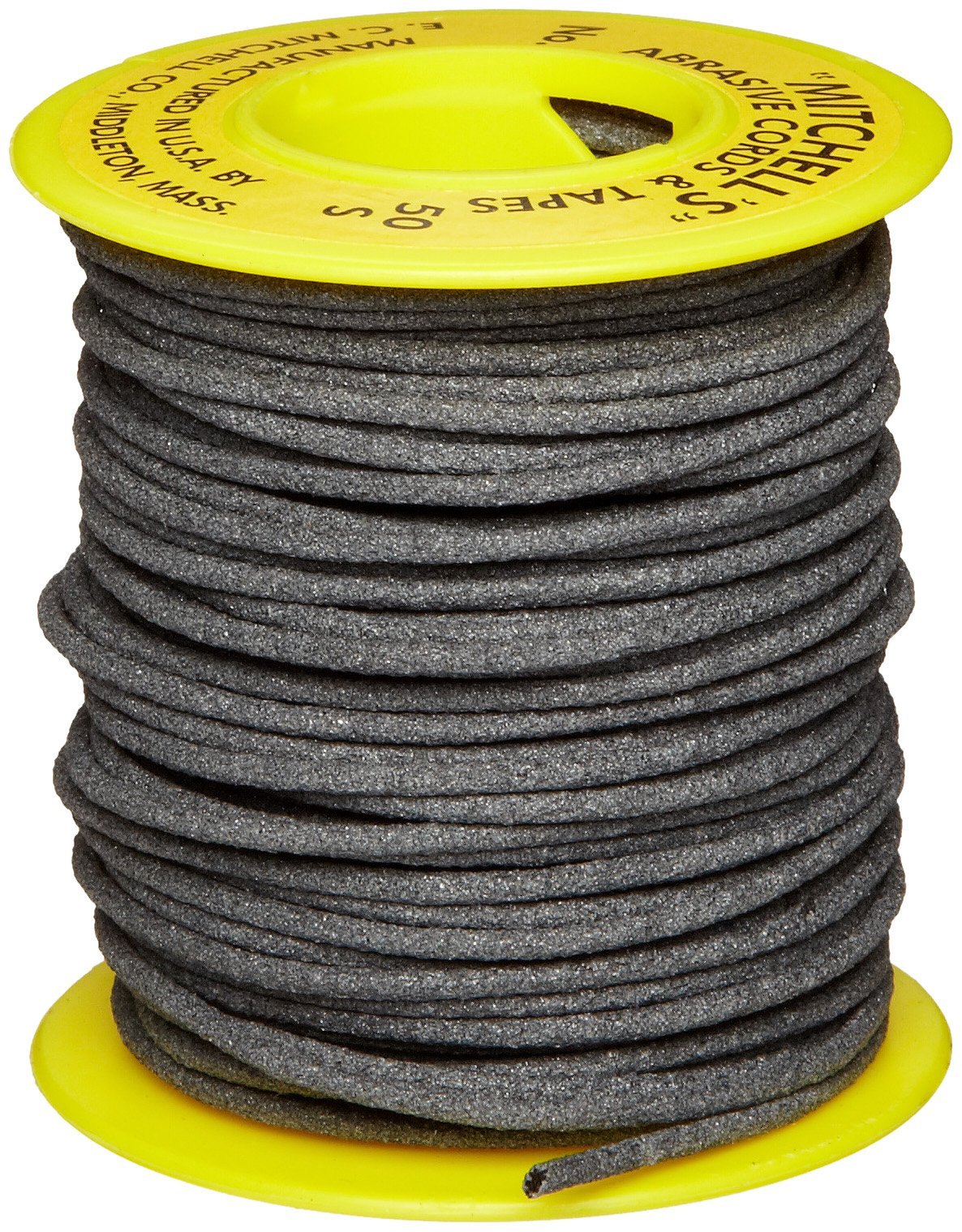 Mitchell Abrasives 50-S Round Abrasive Cord, Silicon Carbide 180 Grit .070'' Diameter x 50 Feet by Mitchell Abrasives