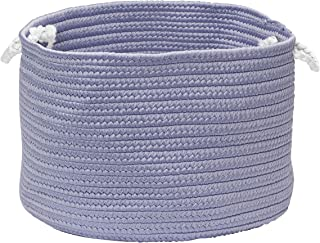 """product image for Colonial Mills Colorful Braided Toy Basket, 12""""x12""""x8"""", Amethyst"""