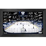 Toronto Maple Leafs 2021 Signature Rink - Authentic NHL Memorabilia - Framed Hanging Wall Art Decoration Display