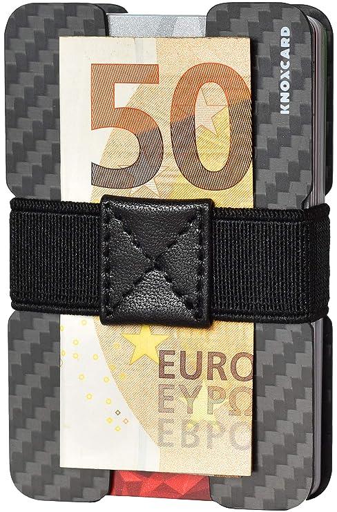 b3fa83b12c KNOXCARD Porta Carte di Credito in Fibra di Carbonio - RFID Portafoglio  Minimalista - Fermasoldi (