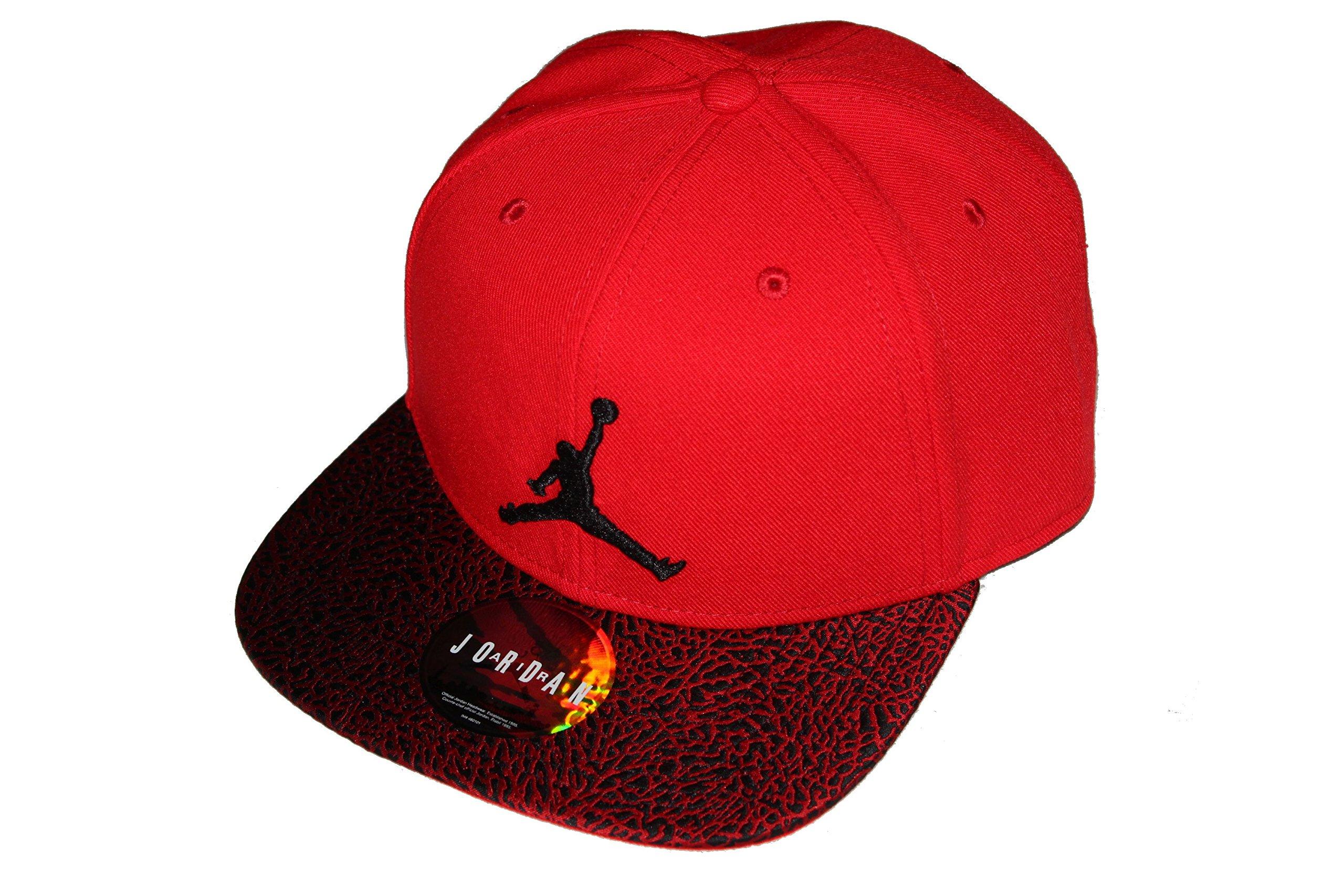 4db15979e7e7c Nike Mens Air Jordan Elephant Bill Snapback Hat Gym Red Black 834891-657