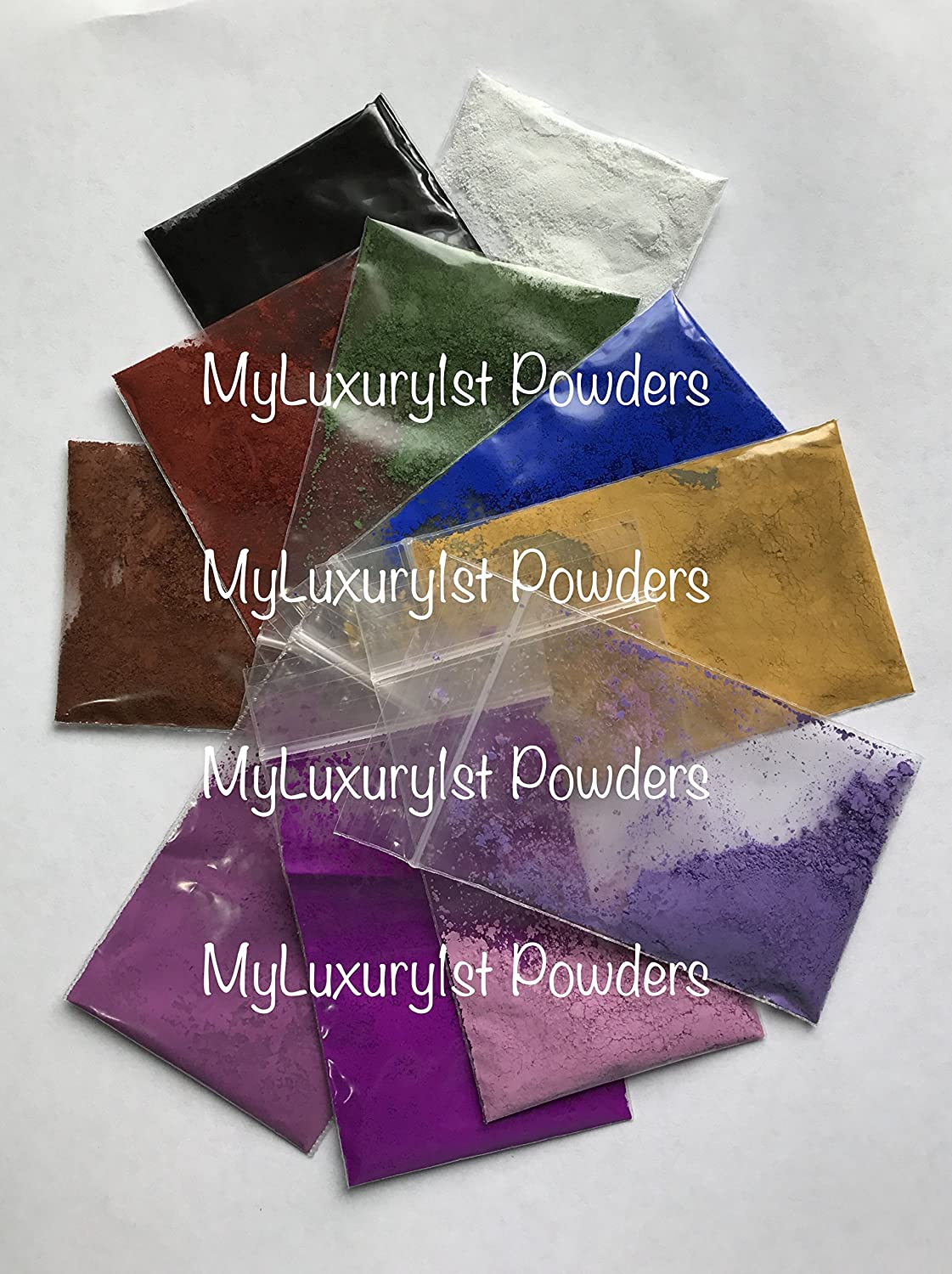 #1 Selling (Lot of 11) 1 gram BAGGIES SAMPLE (16 GREAT REVIEWS) MATTE CP MP HP DIY Soap Making Pigment Titanium Dioxide Oxide BLUE BLACK BROWN RED YELLOW WHITE GREEN LAVENDER VIOLET Ultramarine Powder DW Pigments