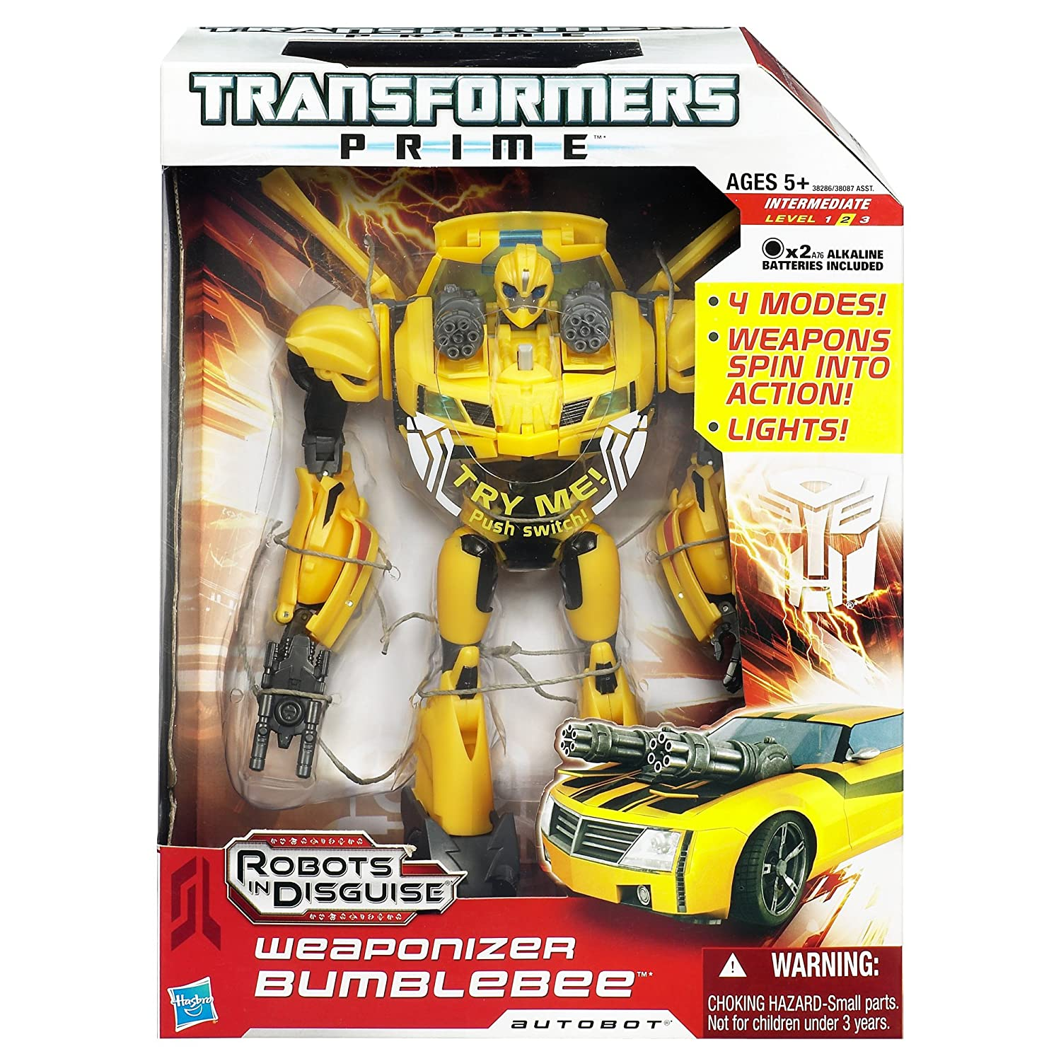 amazon com transformers prime weaponizer bumblebee figure 8 5