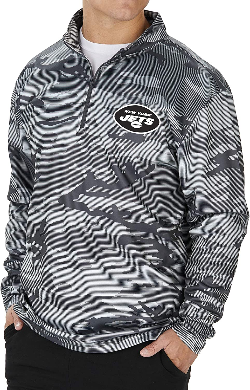 Zubaz NFL Mens Lines Poly Fleece Jacket