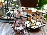 SLPR Wire Storage Basket with Handle
