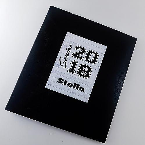 senior pictures photo album scrapbook class of 2018 ia880 personalized graduation gift 5x7 or