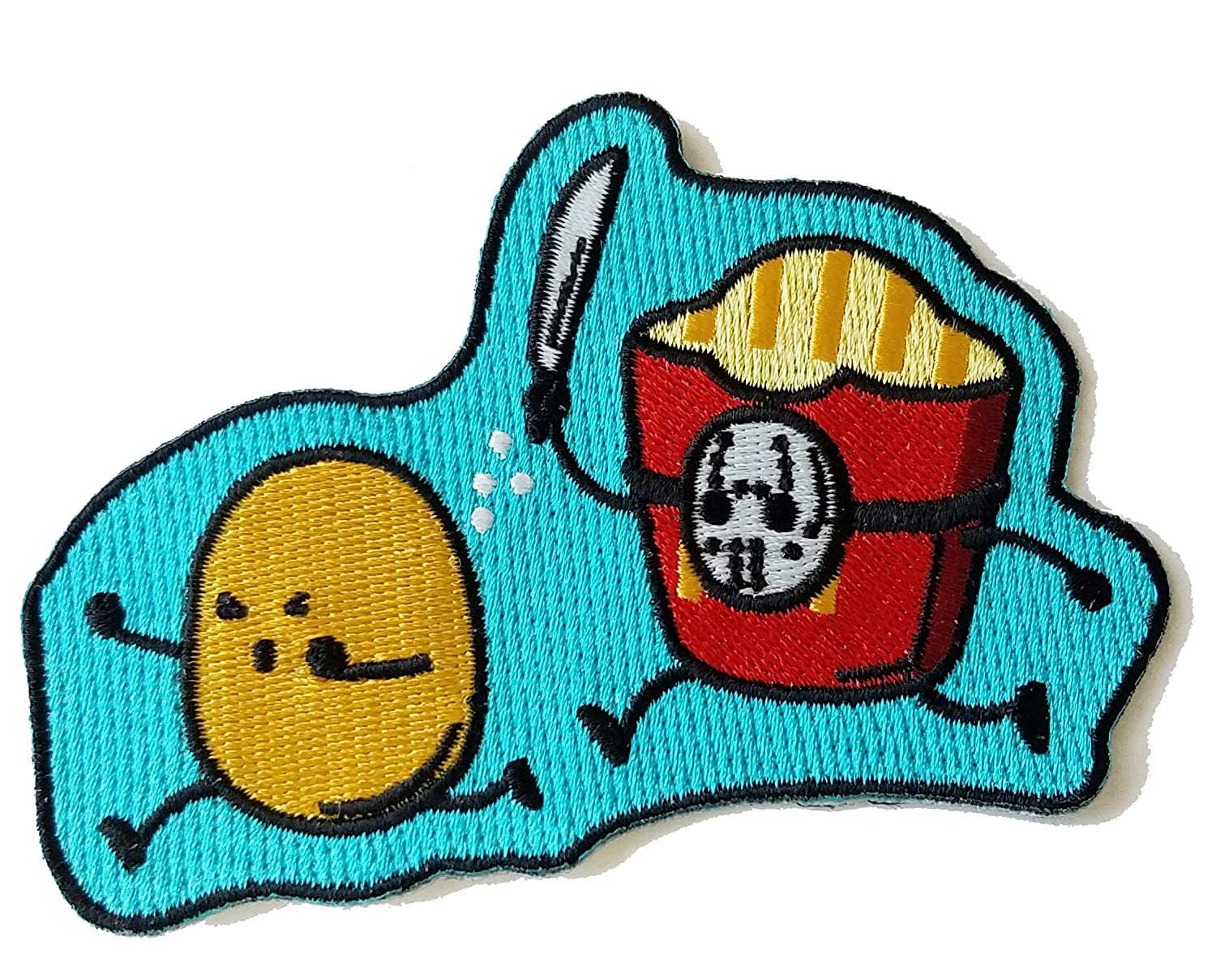 """""""French Fried Jason"""" Funny Horror Film Parody - Novelty Iron On Patch Applique"""
