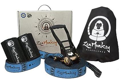 9ab9ab0c3a8 Amazon.com   ZenMonkey Slackline Kit with Tree Protectors