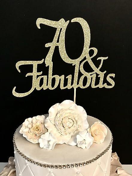 Amazoncom 70 Fabulous Cake Topper Arts Crafts Sewing