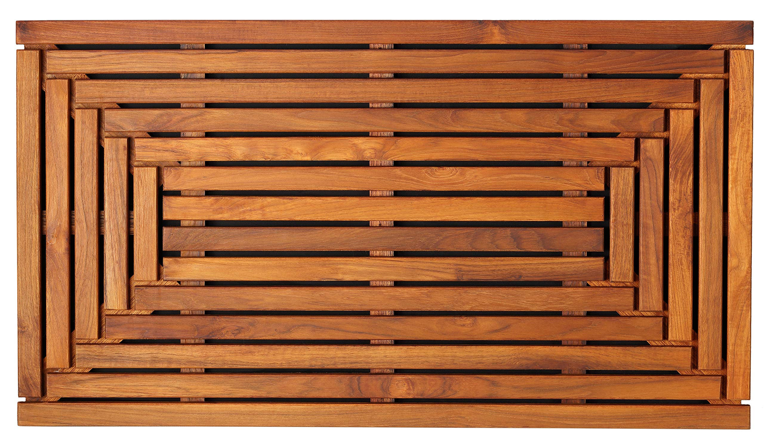Bare Decor Giza Shower, Spa, Door Mat in Solid Teak Wood and Oiled Finish 35.5'' x 19.75''