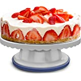Montreal Baking Cake Turntable - 4 Inches Tall - 360 Degree Cake Stand - Cake Decorating Supplies