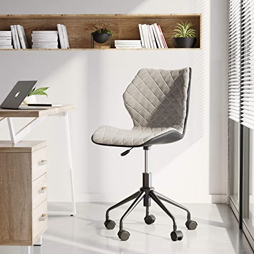 Techni Mobili RTA-3237-GRY Deluxe Modern Office Armless Task Chair