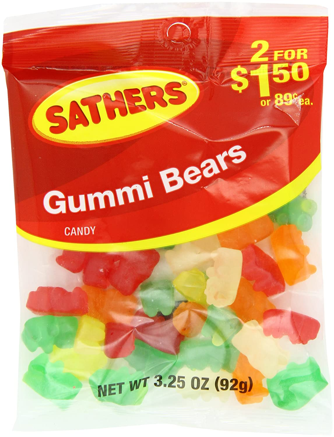 Farley's & Sathers Candy, Gummy Bears, 3.25 Ounce, Pack of 12
