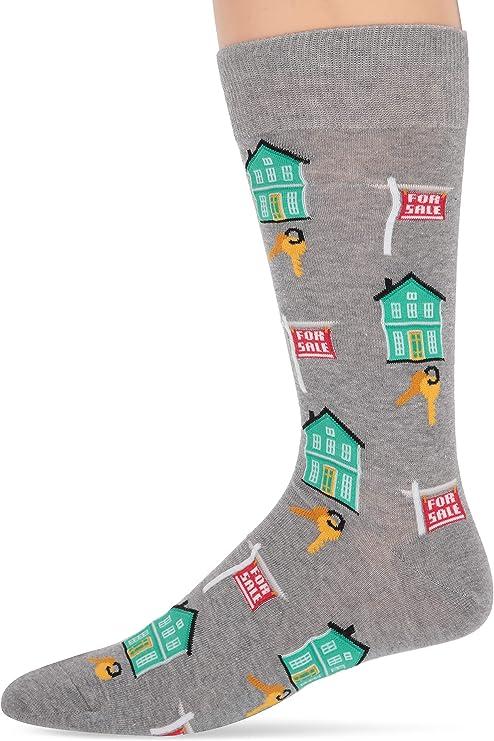 Hot Sox Novelty Realtor Casual Crew Socks