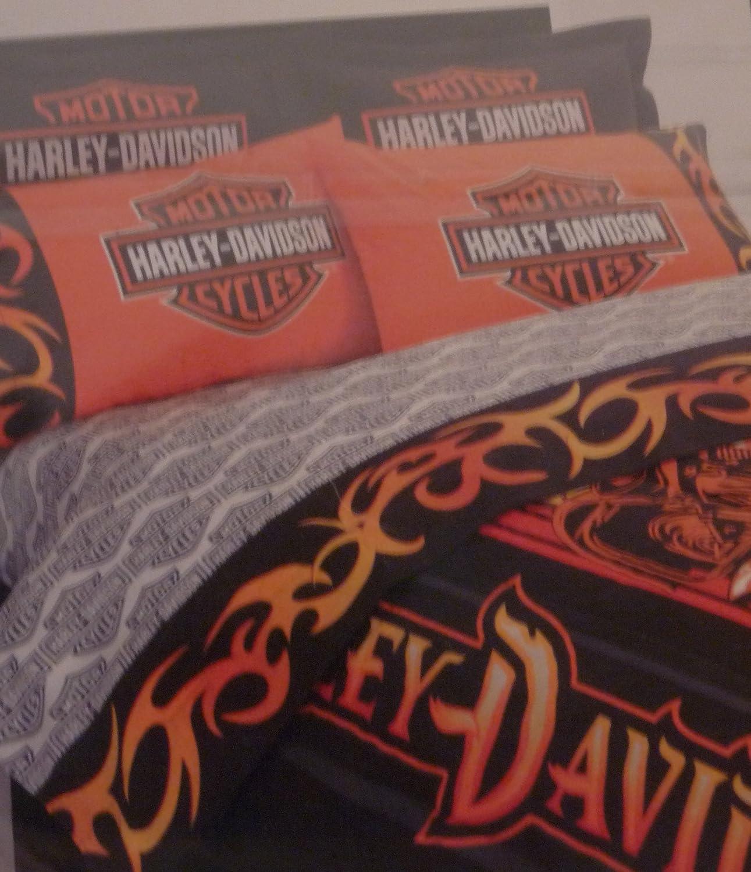 Superb Amazon.com: Harley Davidson Motorcycle Sheet Sets Twin Size Sheets Bedding:  Home U0026 Kitchen