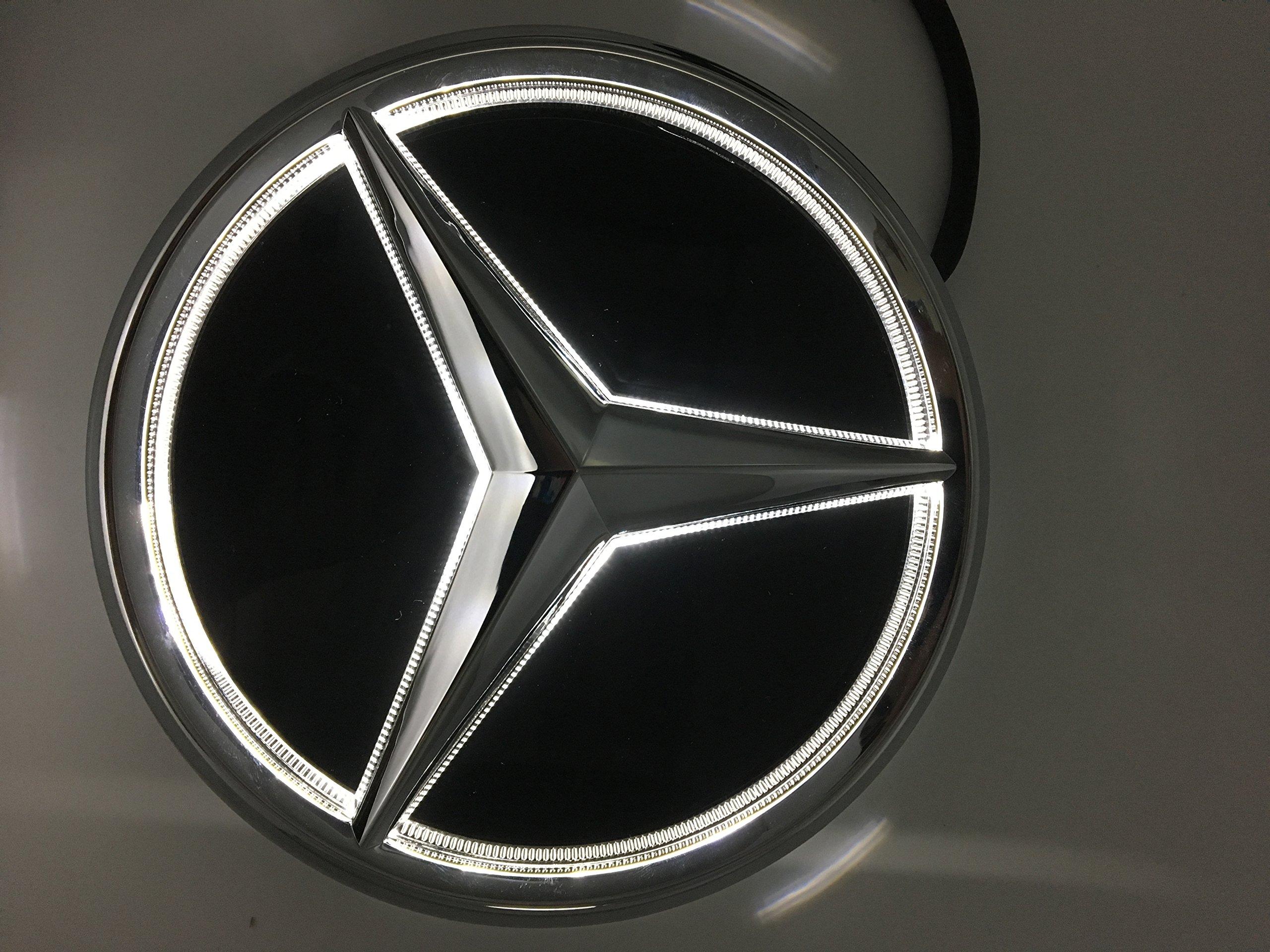Cszlove Car Front Grilled Star Emblem Led Illuminated Logo