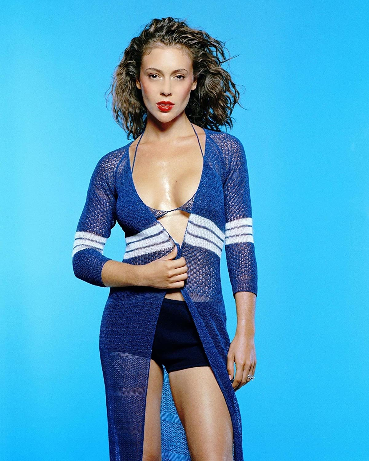 "ALYSSA MILANO 8/"" X 10/"" GLOSSY PHOTO REPRINT"