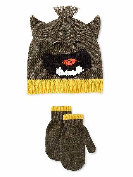 Amazon Carters Boys Little Monster Set Beanie Hat Green 2t