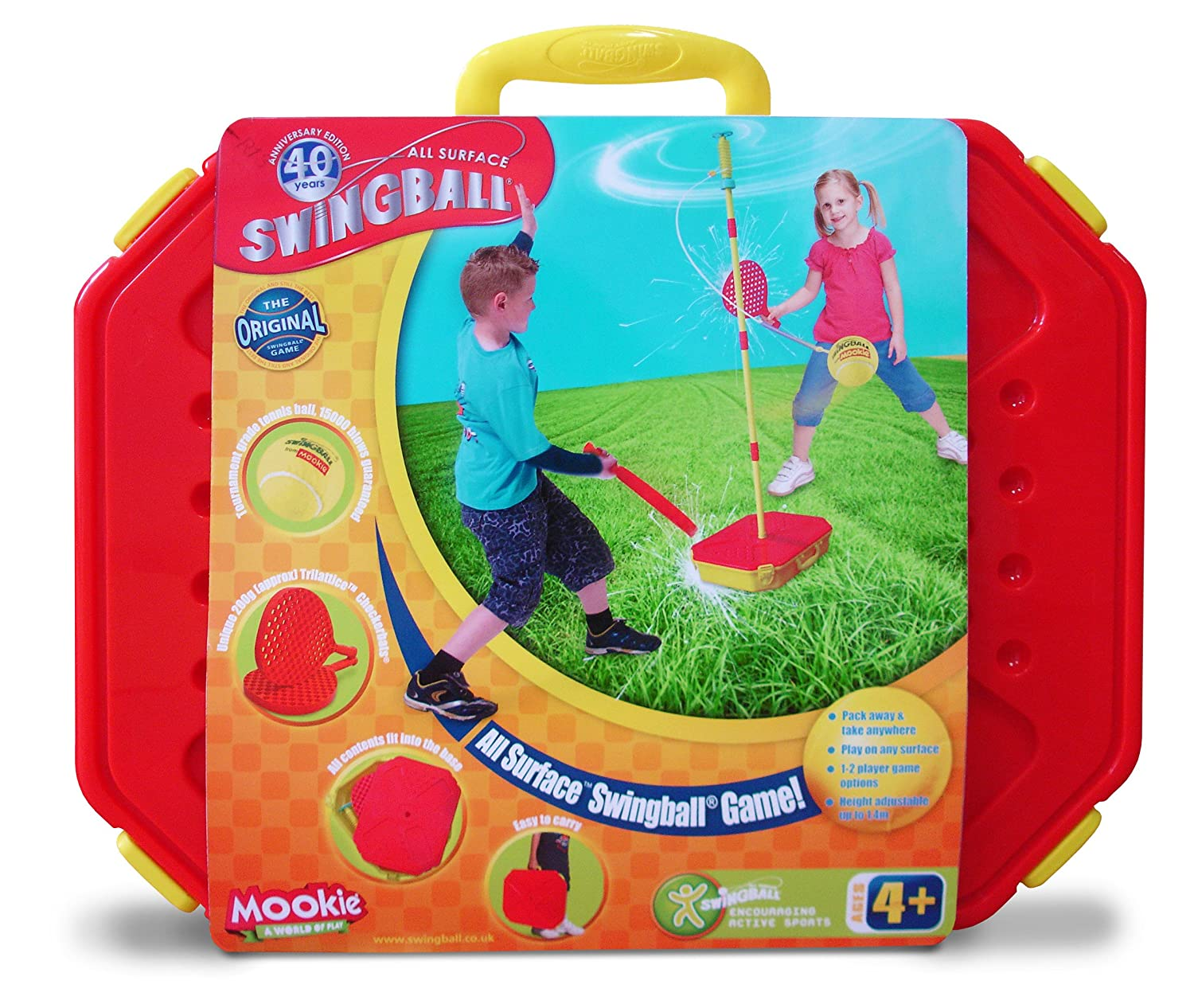 Mookie Classic Swingball Tetherball Set - Portable Tetherball MK7215