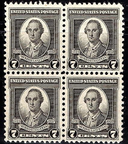 US STAMPS George Washington 7 Cent 1932 Scott 712 MNH