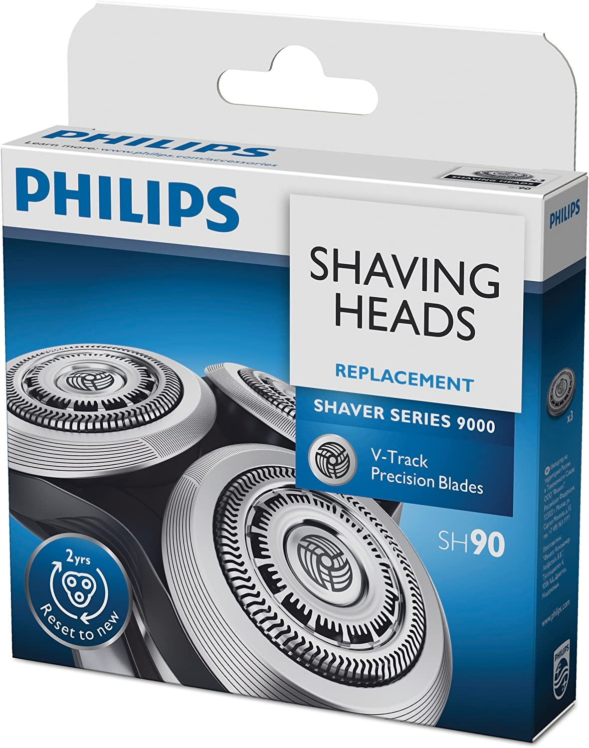 Philips SH90/50 - Cabezal para afeitadora serie 9000, Pack of 3 ...