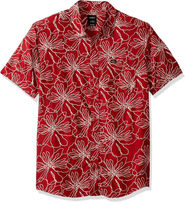 RVCA Mens Blind Floral Button-Up Shirt