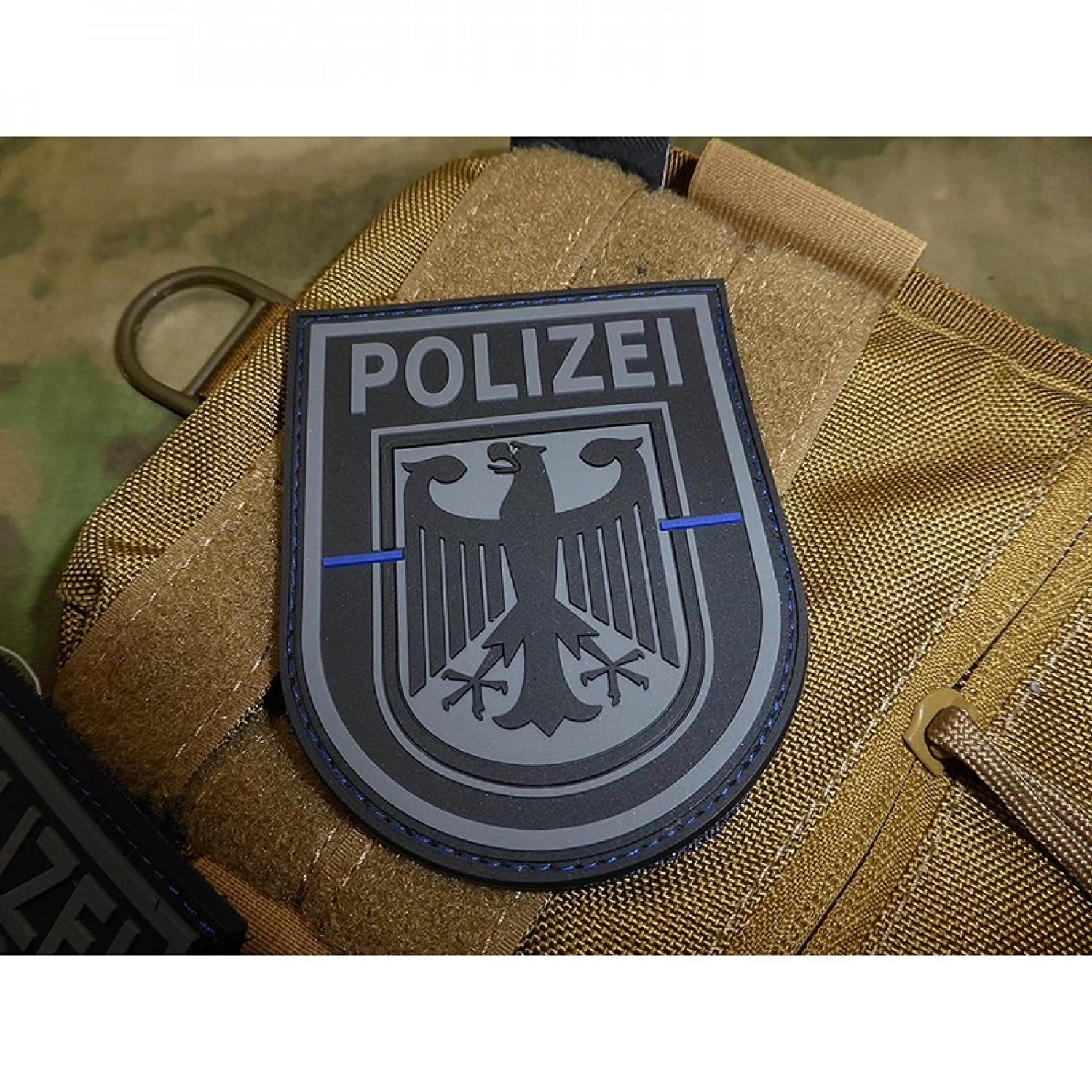 jtg /ärmelabzeichen Polic/ía Federal Blackops Special Edition Patch Thin Blue Line