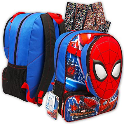"""Marvel Spiderman 16/"""" inches Backpack /& Lunch For Kids New Licensed Product"""