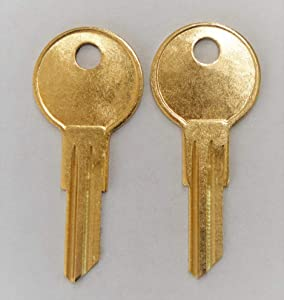 Two Replacement Keys for Herman Miller File Cabinet Office Furniture Cut to Lock/Key Numbers from UM351 to UM427 pre Cut to Code by keys22 (UM381)