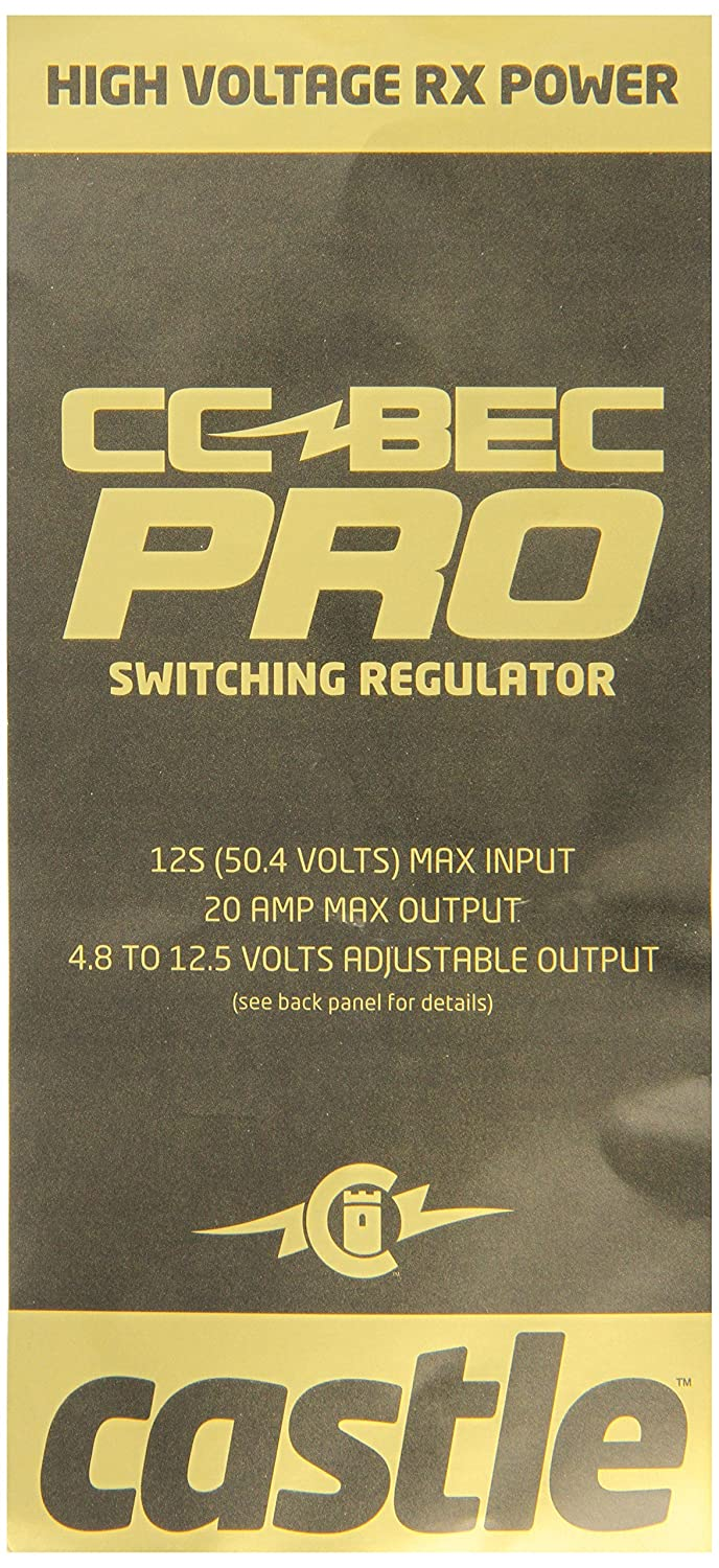 Castle Creations Cc Bec Pro 20a 12s Switching Regulator Link Wiring Diagram Toys Games
