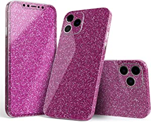 Sparkling Pink Ultra Metallic Glitter - Full Body Skin Decal Wrap Kit Compatible with The Apple iPhone 11 Pro Max (Full-Body, Screen Trim & Back Glass Skin)