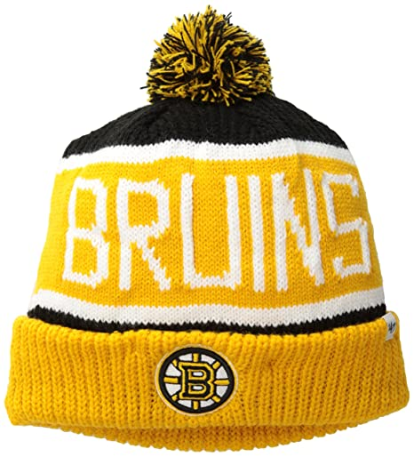 new arrival 7e650 925ee NHL Boston Bruins Men s Calgary Knit Cuff Cap, One-Size, Black