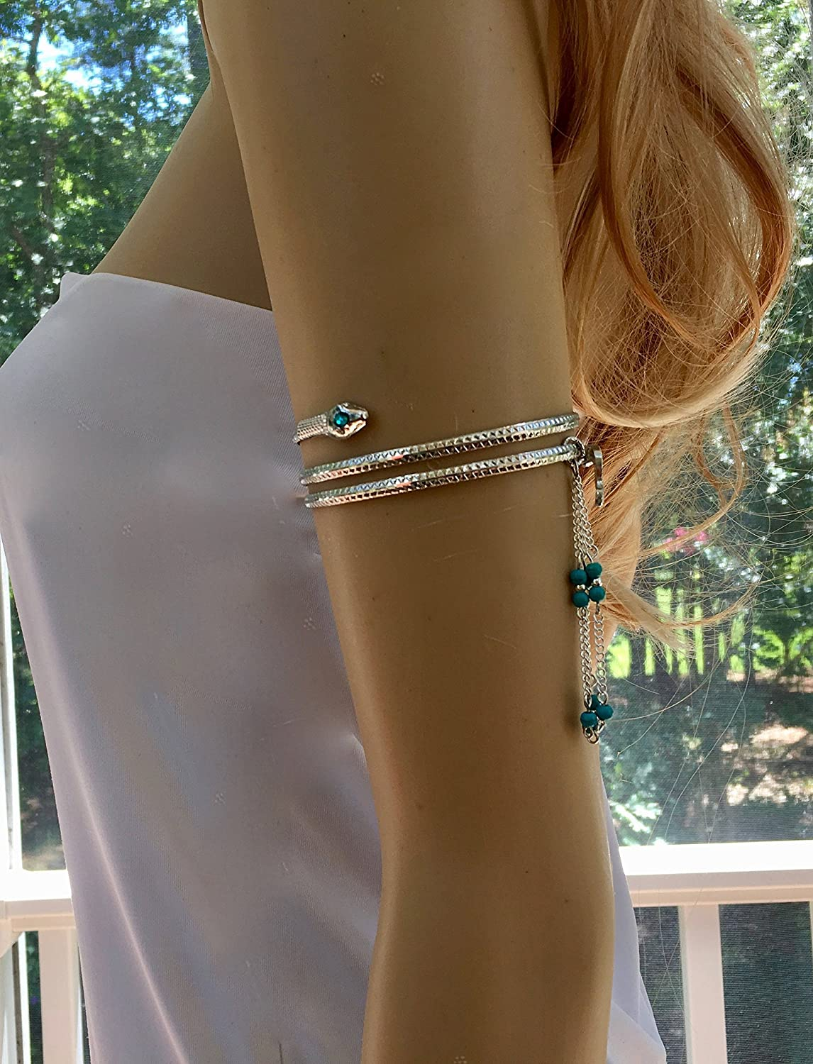 Silver and Turquoise Arm Chain