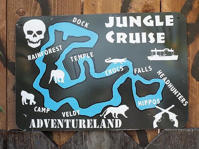 Adventureland Disney World Map.Amazon Com Jungle Cruise Map Walt Disney World Inspired Handmade