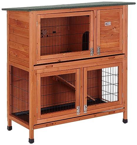 BUNNY BUSINESS - Jaula de 2 Niveles para Conejos y cobayas: Amazon ...
